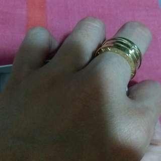 18k Bulgari Inspired Gold Ring