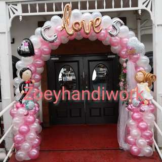 Wedding / ROM balloon decoration only @ zoeyhandiwork