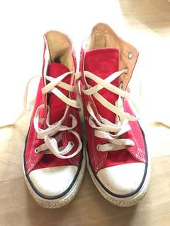 Authentic Red Converse Shoes / Sneakers