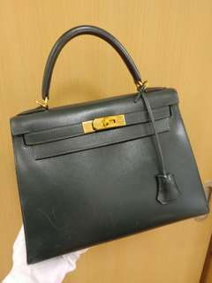 Hermes kelly 28 in dark green