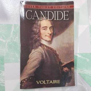 Candide by Voltaire, novel.