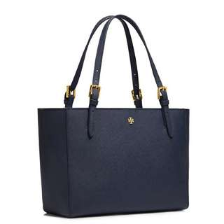 美國專櫃Tory Burch York Small Buckle Tote in Blue