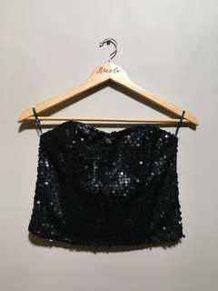 Forever 21 Sequined Tube Top • M