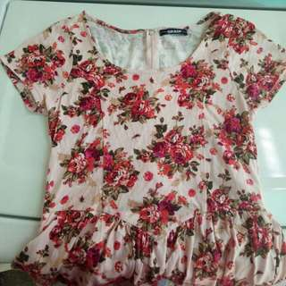 Grasp歐美淡粉色玫瑰連身褲裙
