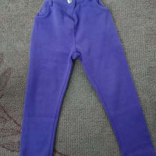 Purple cotton pants