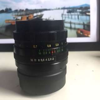 Helios 44M 58mm f2 (swirly bokeh) lens Sony e