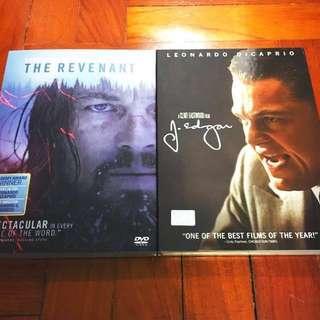 Revenant / J Edgar - DiCaprio Dvd Bundle