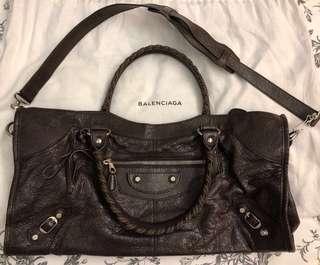 正品 Authentic Balenciaga City Brown Bag 深啡色手袋