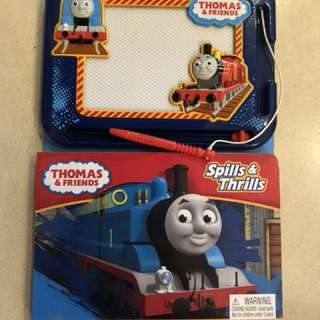 Thomas and friends writing board and book