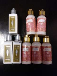 Loccitane body lotion travel size