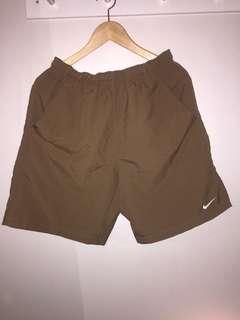 Men's Choc brown dri-fit shorts size S