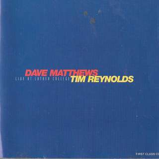 MY PRELOVED CD - DAVE MATTHEWS & TIM REEYNOLD - LIVE AT LUTHER COLLEGE -/FREE DELIVERY (F7Q)