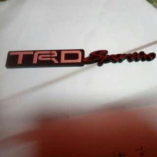 TRD sportivo emblem