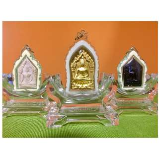 Amulet Takrut Holder Display Stand Altar Thick Clear Acrylic Thai