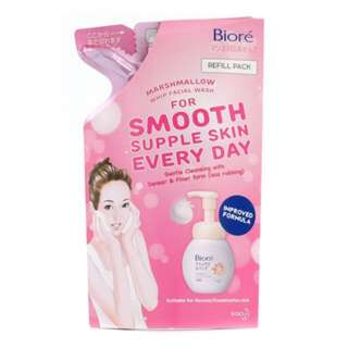 Biore Marshmallow Whip Facial Wash refill