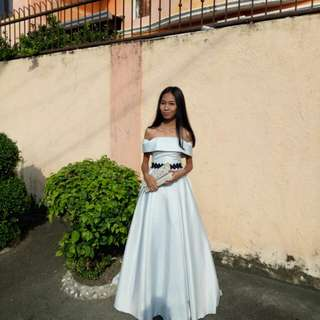 Prom gown night dress prom dress Pastel color