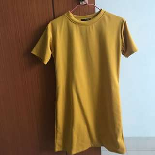 [Brand New] Shirt Dress in Mustard Yellow