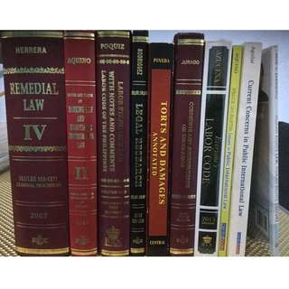 LAW BOOKS (USED AND FOR SALE)
