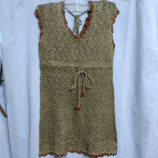 金蔥邊編織背心