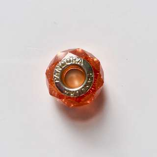 Pandora orange glass charm bead