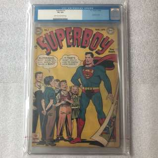Superboy 1 (1949 golden age ) Cgc 4.0 old label