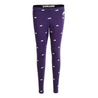 nike purple sneaker logo print legging sport pants 運動跑步瑜珈褲 tight lululemon