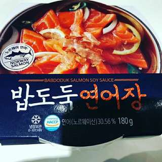 韓國7-11即食醬油三文魚