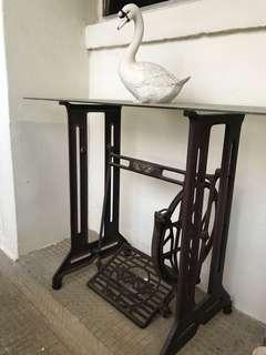 Vintage sewing machine legs