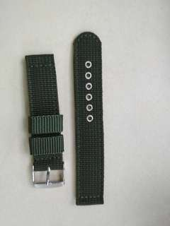canvas watch band 18mm