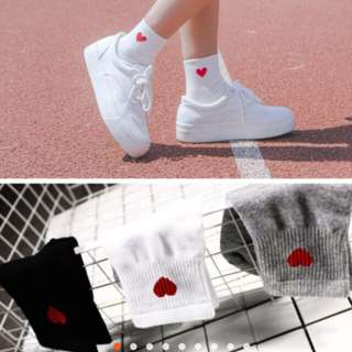 🐾Harajuku heart sock