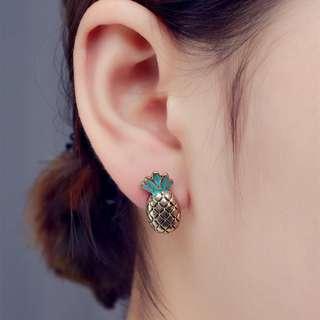 Alloy Pineapple Stud Earrings