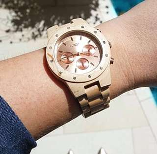 Jord Handcrafted Authentic Luxury Wood Watch Sidney Rose Gold Crystals & Maple Wood