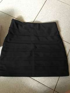 Black formal skirt