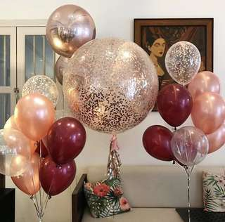 36inches latex confetti giant bubble balloons