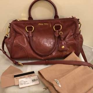 Miu Miu Red Leather Bag