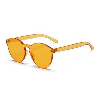 Transparent Orange Frameless Sunglasses