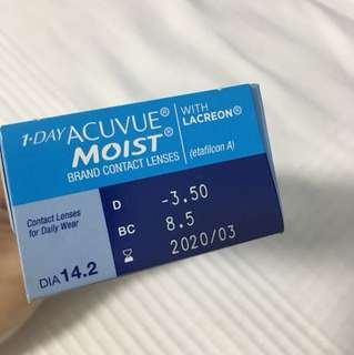 1-Day Acuvue Moist 3.50