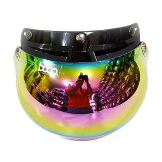 Kaca Helm Visor Helm Bogo BG 06 Pelangi Rainbow Original Half Face