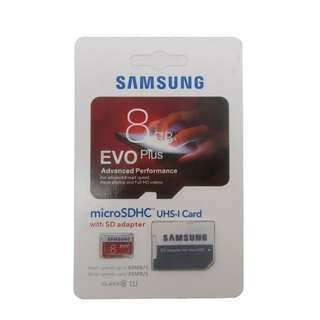 Samsung Evo Plus 80MB Class 10 Micro SD Memory Card with Adapter 8GB