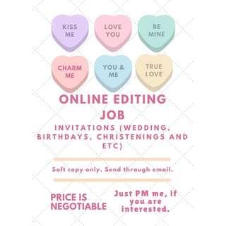 ONLINE EDITING JOB