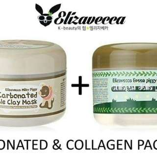 Clay mask + collagen pack