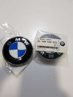 BMW emblem sticker label