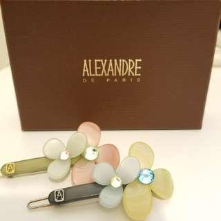 ALEXANDRE DE PARIS正品水晶頭夾