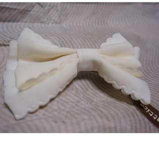 日本福袋 白色蝴蝶結大髮夾