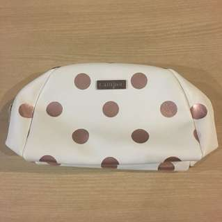 BNIP LANEIGE ROSE GOLD POLKA DOTS COSMETIC POUCH