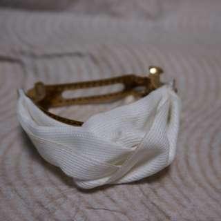 日本福袋 白色扭結馬尾夾