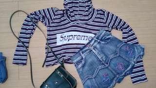 Crop hoodie w/ Minnie skirt