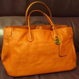 🈹半新真皮Rabeanco手袋  Used Rabeanco Genuine Leather Handbag