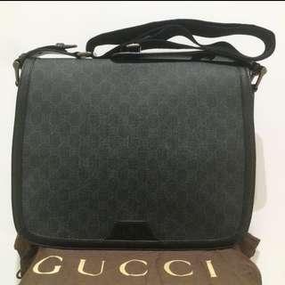 全新Gucci 書包 公事包 手袋 公文袋 返工返學適合 黑色 斜咩 單膊 均可