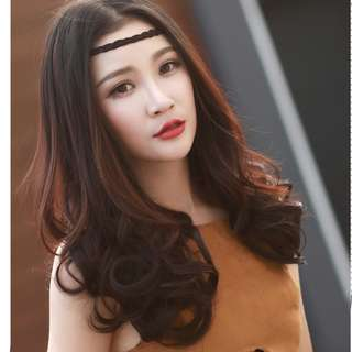 Premium U Shape Light Brown Hair Extensions Natural Wavy